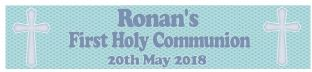 Personalised Boy First Communion Banner Design 3